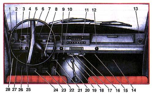 Рулевое колесо 5 с утопленной